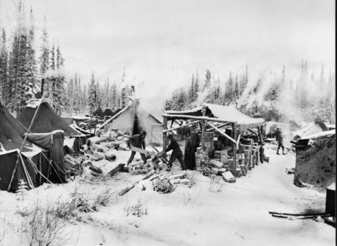 Building Alaska Hwy 1942