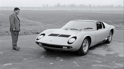 Ferruccio Lamborghini & Miura 1966