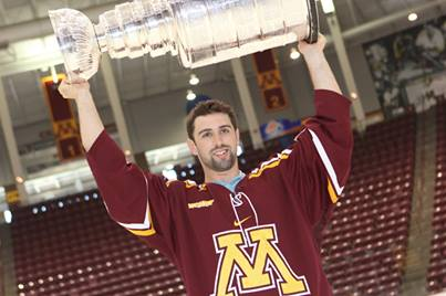 Nick Leddy with Cup