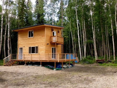 Cabin w/ new rail