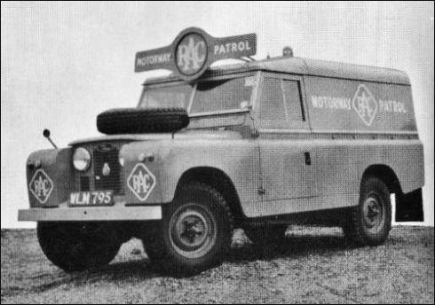 rover 1966 motorway patrol