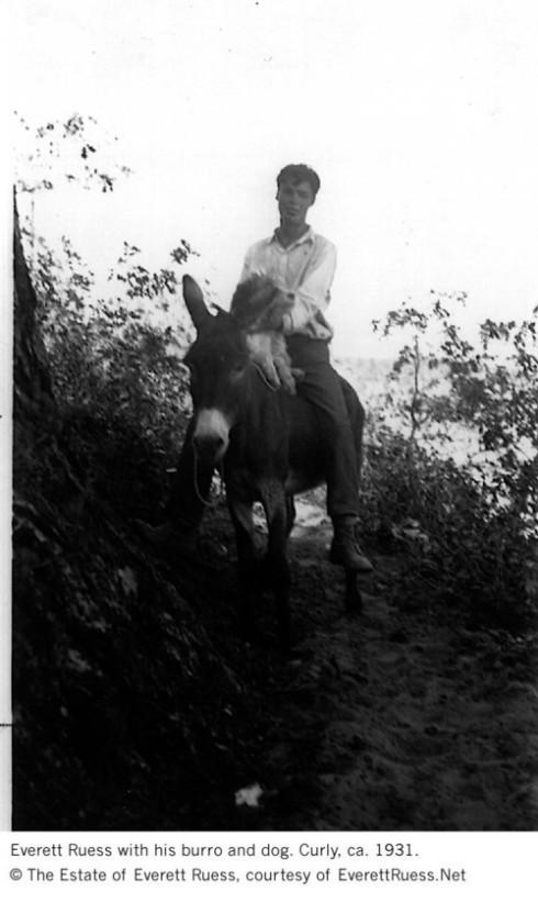 Ruess:burro:curly 1931