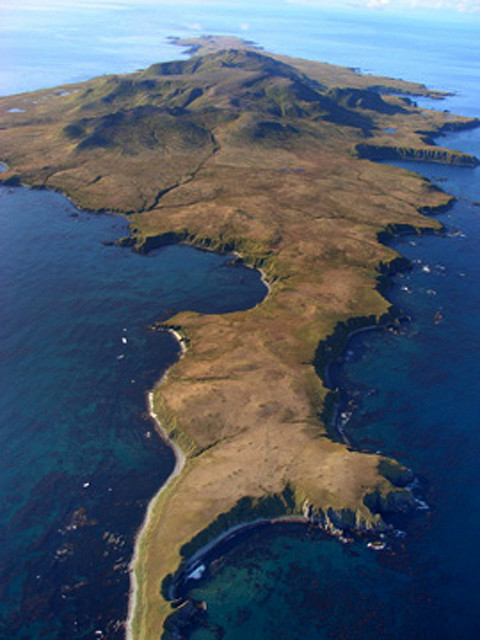 Aerial of the Island Formerly Known as Rat