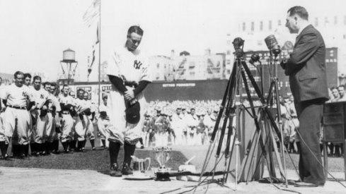 Lou Gehrig @ Yankee Stadium