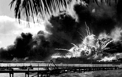 USS Shaw hit at Pearl Harbor