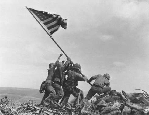 Raising the Flag on Mt Suribachi