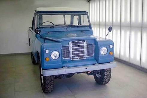 Marley Land Rover after restoration