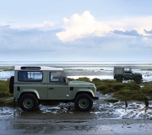 Defender & Series I at the beach