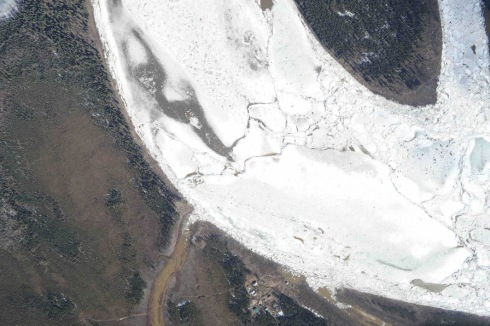 Yukon River ice jam