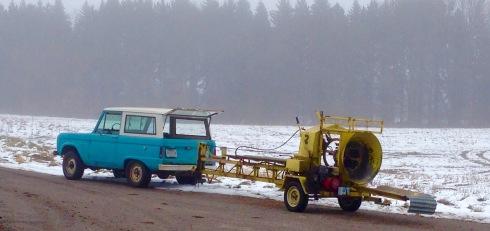 Ford Bronco at tree farm